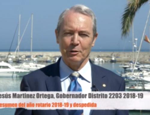Vídeo despedida de Jesús Martinez como Gobernador 2018-19